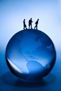 Globus med mennesker