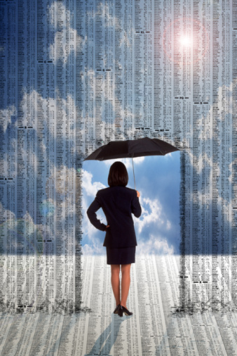 Kvinne med paraply