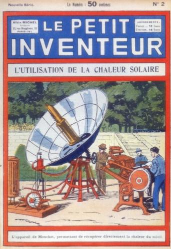 Den første soldrevne trykkpresse ved Abel Pifre 1894