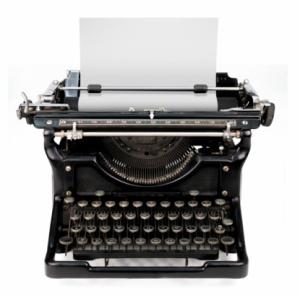 Gammel manuell skrivemaskin