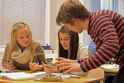 Realfagsstudenter. Foto: Lars Bakke Krogvik