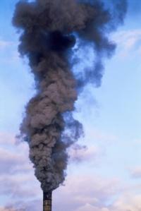Røyk fra skorstein
