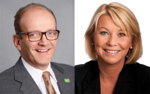 På bildet: Administrerende direktør Finn Kristian Aamodt og næringsminister Monica Mæland.