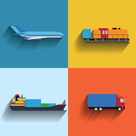fly, tog,skip, lastebil