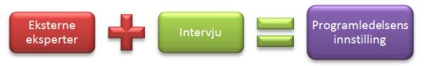 Eksterne eksperter + intervju = programledelsens innstilling