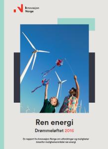 Rapporforside med bilde av barn og vindmøller